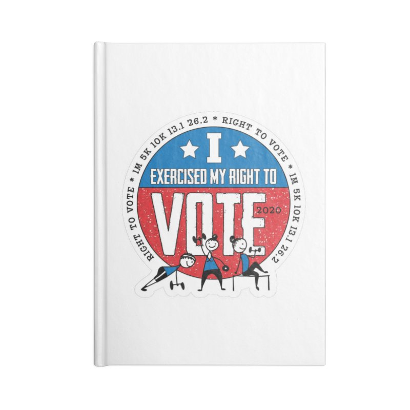 Right to Vote Accessories Lined Journal Notebook by Moon Joggers's Artist Shop