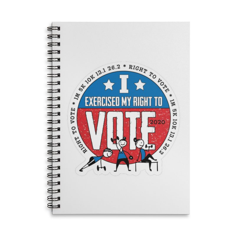 Right to Vote Accessories Lined Spiral Notebook by Moon Joggers's Artist Shop