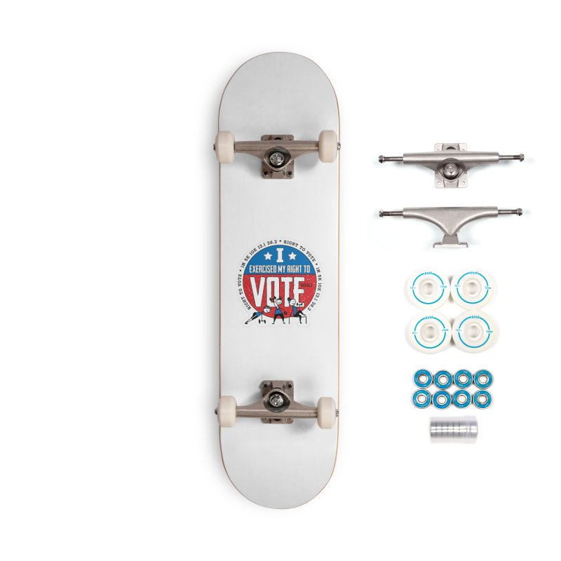 Right to Vote Accessories Complete - Basic Skateboard by Moon Joggers's Artist Shop