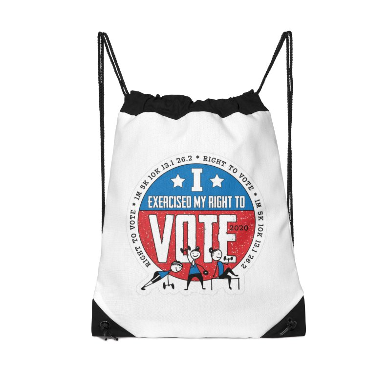 Right to Vote Accessories Drawstring Bag Bag by Moon Joggers's Artist Shop