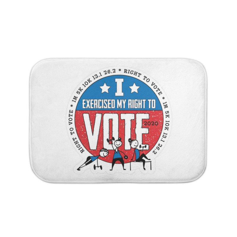 Right to Vote Home Bath Mat by Moon Joggers's Artist Shop