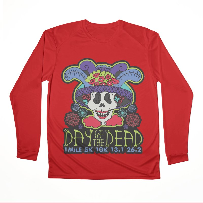 Day of the Dead Women's Performance Unisex Longsleeve T-Shirt by Moon Joggers's Artist Shop