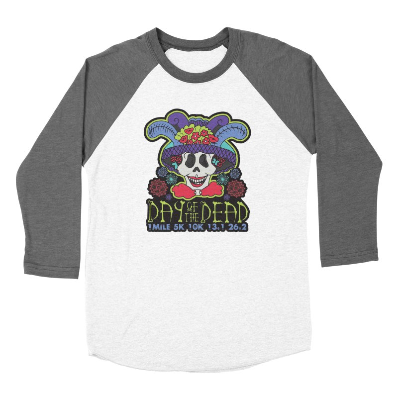 Day of the Dead Women's Baseball Triblend Longsleeve T-Shirt by Moon Joggers's Artist Shop