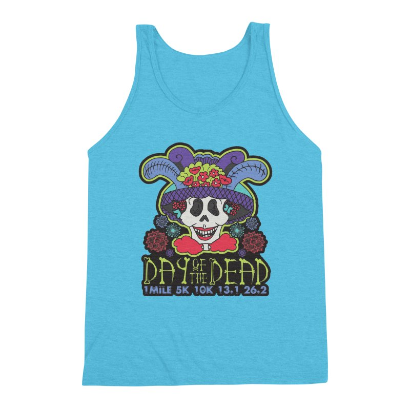Day of the Dead Men's Triblend Tank by Moon Joggers's Artist Shop