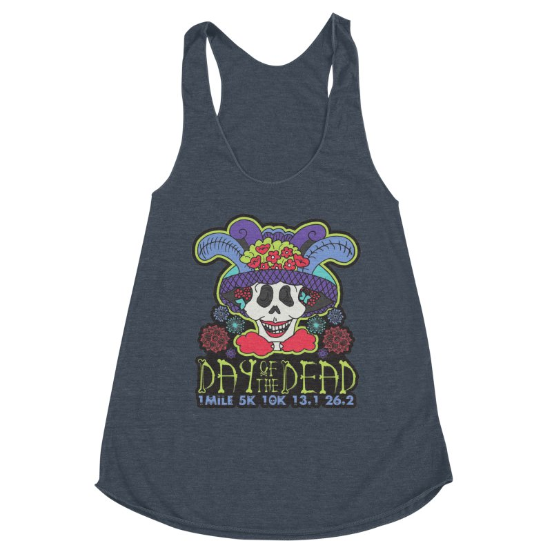 Day of the Dead Women's Racerback Triblend Tank by Moon Joggers's Artist Shop