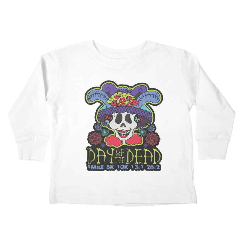 Day of the Dead Kids Toddler Longsleeve T-Shirt by Moon Joggers's Artist Shop