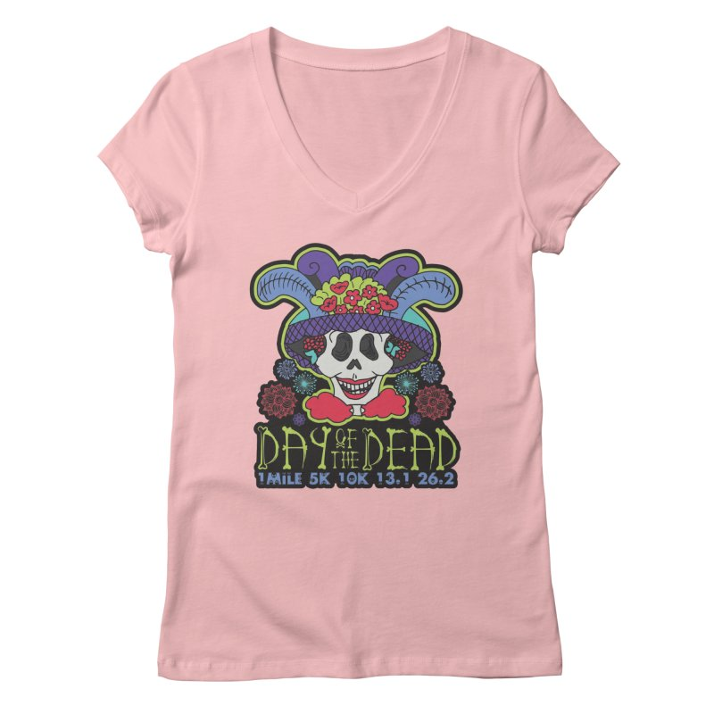 Day of the Dead Women's Regular V-Neck by Moon Joggers's Artist Shop