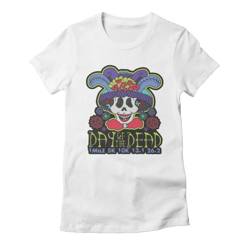 Day of the Dead Women's Fitted T-Shirt by Moon Joggers's Artist Shop