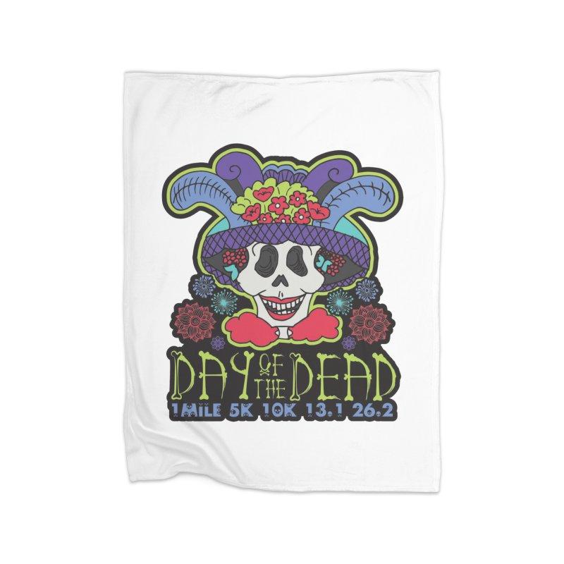Day of the Dead Home Fleece Blanket Blanket by Moon Joggers's Artist Shop