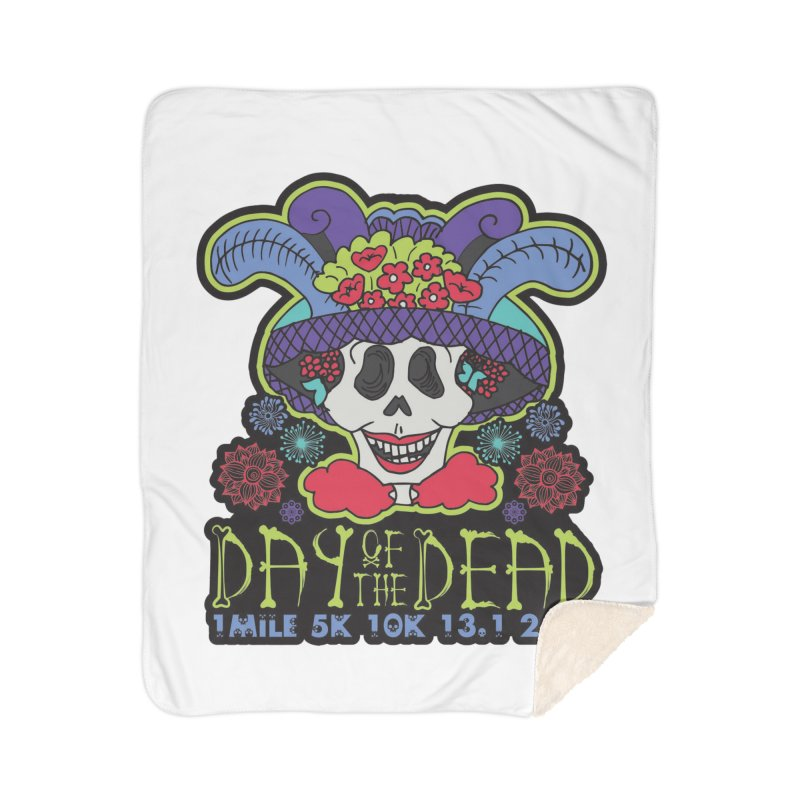 Day of the Dead Home Sherpa Blanket Blanket by Moon Joggers's Artist Shop