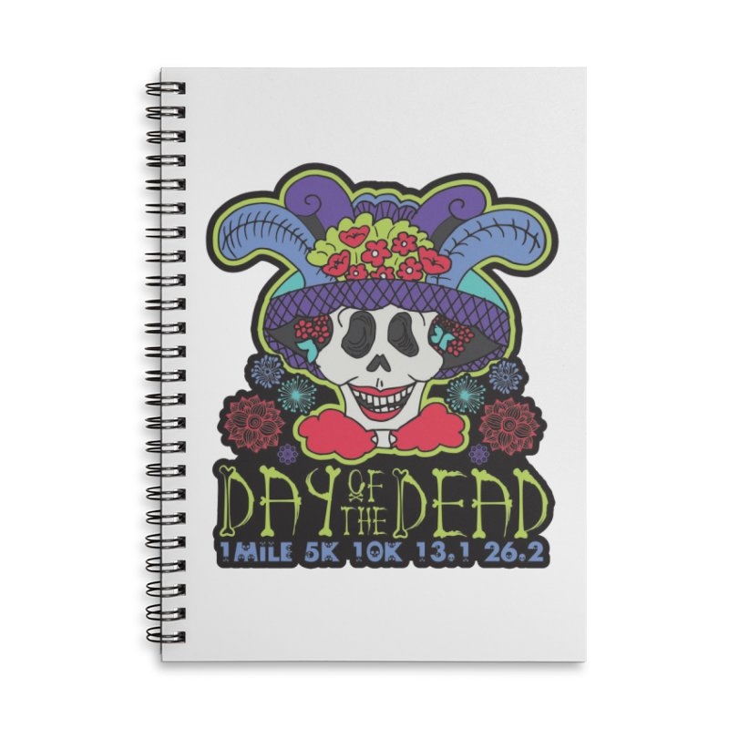 Day of the Dead Accessories Lined Spiral Notebook by Moon Joggers's Artist Shop