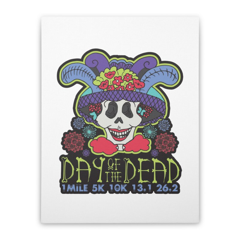 Day of the Dead Home Stretched Canvas by Moon Joggers's Artist Shop