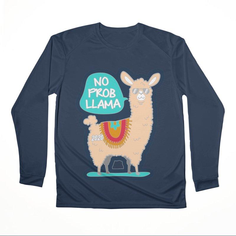 No Prob Llama Women's Performance Unisex Longsleeve T-Shirt by Moon Joggers's Artist Shop