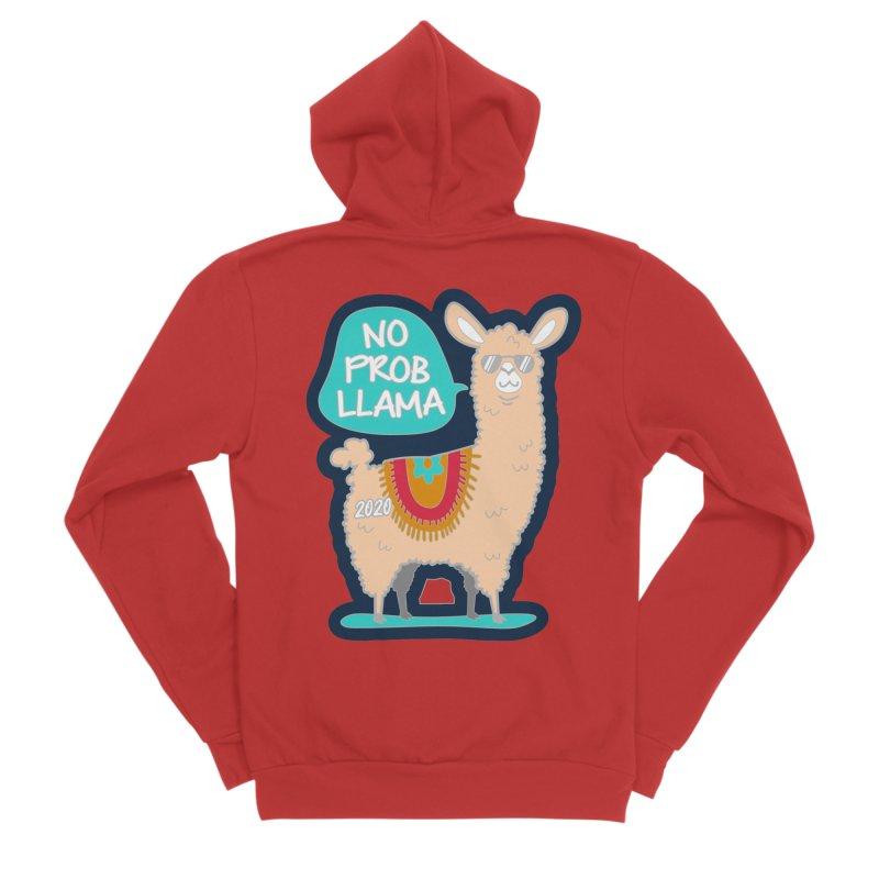 No Prob Llama Men's Sponge Fleece Zip-Up Hoody by Moon Joggers's Artist Shop