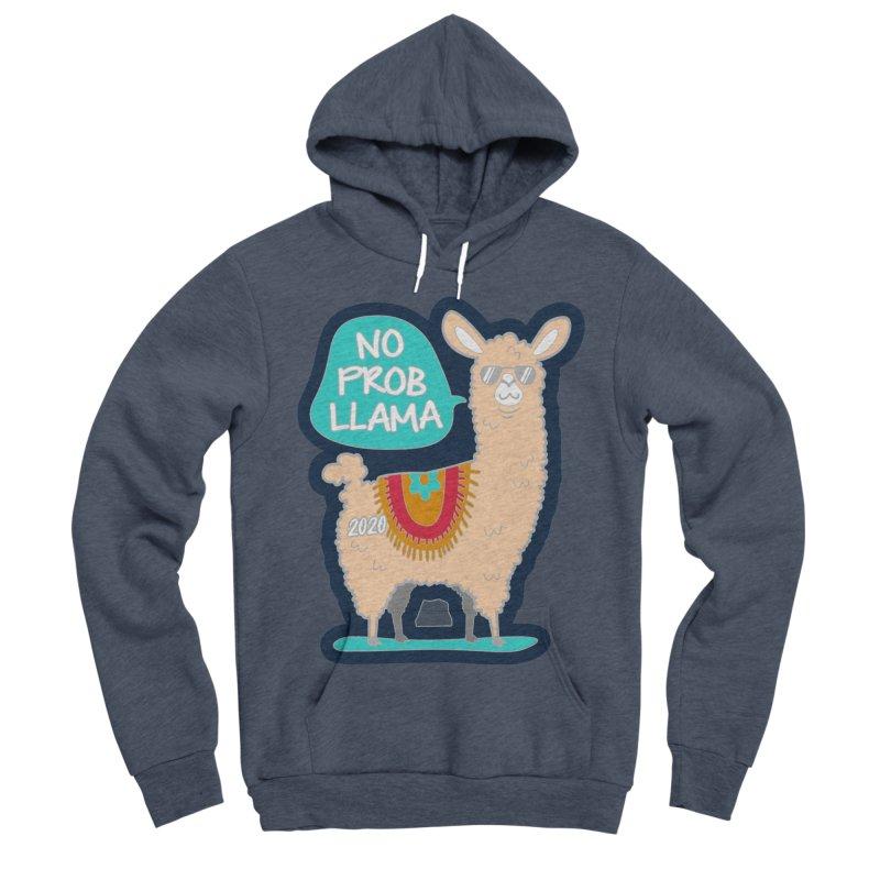 No Prob Llama Men's Sponge Fleece Pullover Hoody by Moon Joggers's Artist Shop