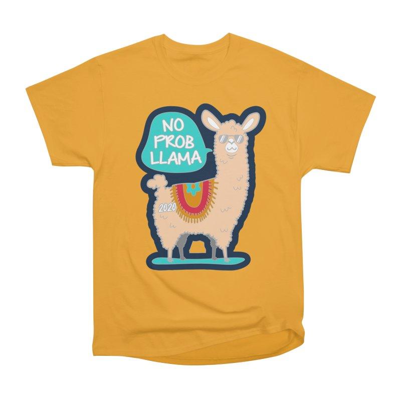 No Prob Llama Women's Heavyweight Unisex T-Shirt by Moon Joggers's Artist Shop