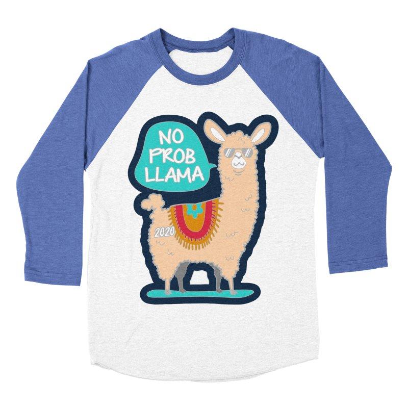 No Prob Llama Women's Baseball Triblend Longsleeve T-Shirt by Moon Joggers's Artist Shop