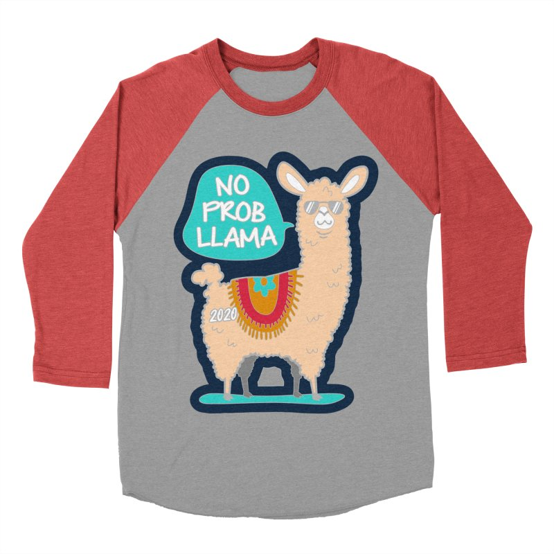 No Prob Llama Men's Baseball Triblend Longsleeve T-Shirt by Moon Joggers's Artist Shop