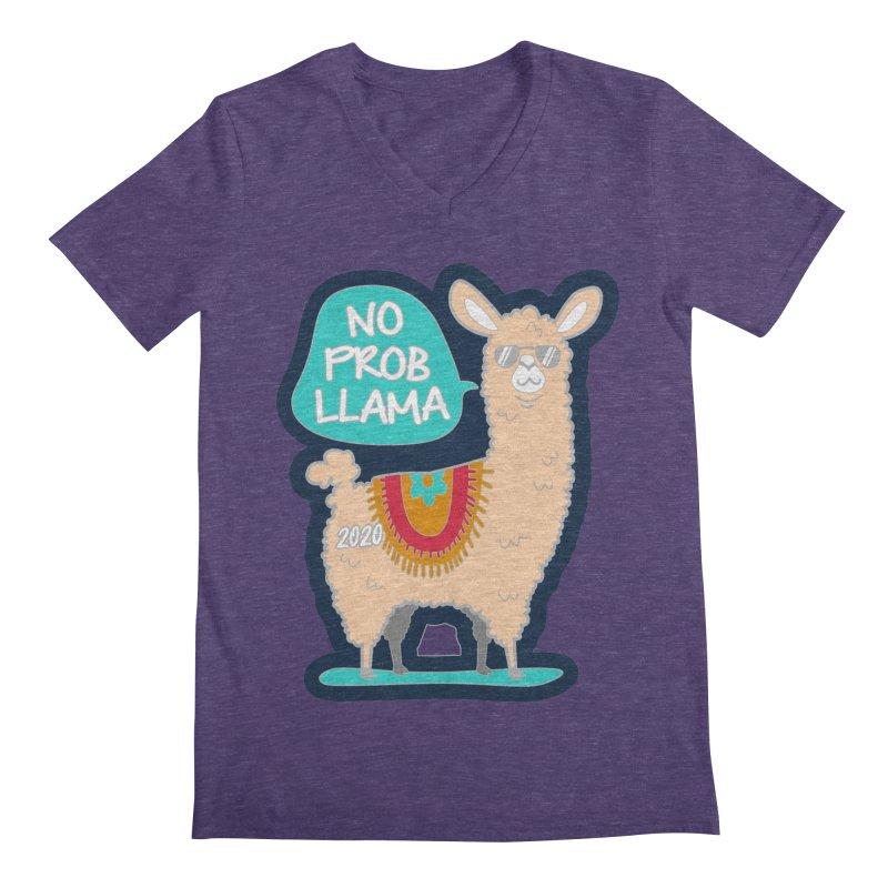 No Prob Llama Men's Regular V-Neck by Moon Joggers's Artist Shop