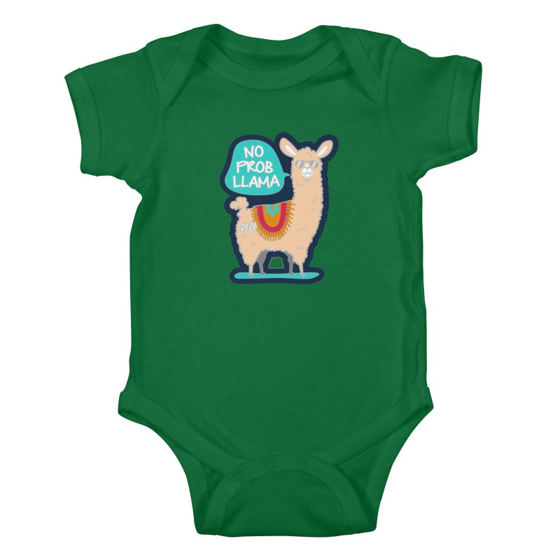 No Prob Llama Kids Baby Bodysuit by Moon Joggers's Artist Shop