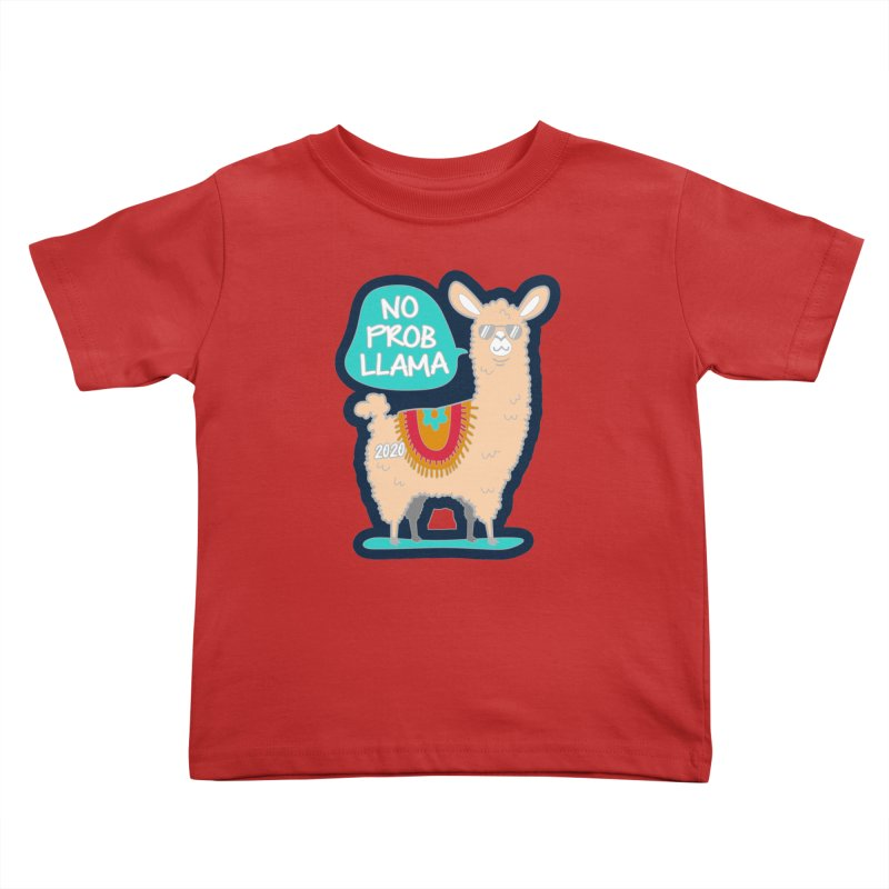 No Prob Llama Kids Toddler T-Shirt by Moon Joggers's Artist Shop