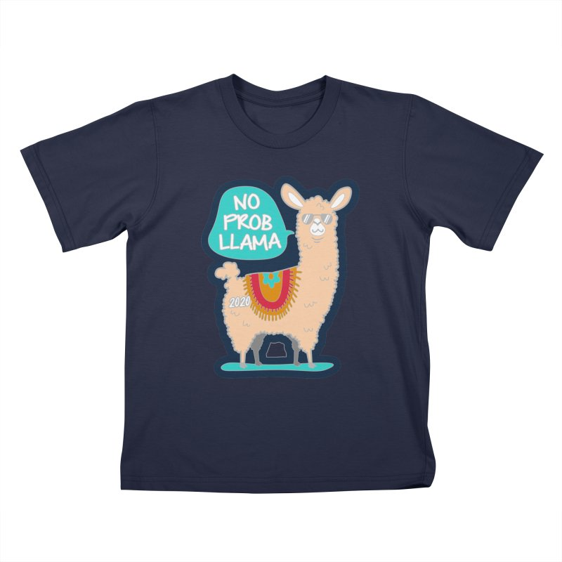 No Prob Llama Kids T-Shirt by Moon Joggers's Artist Shop