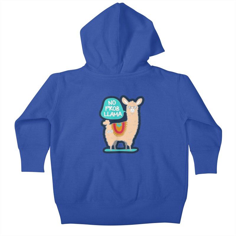 No Prob Llama Kids Baby Zip-Up Hoody by Moon Joggers's Artist Shop