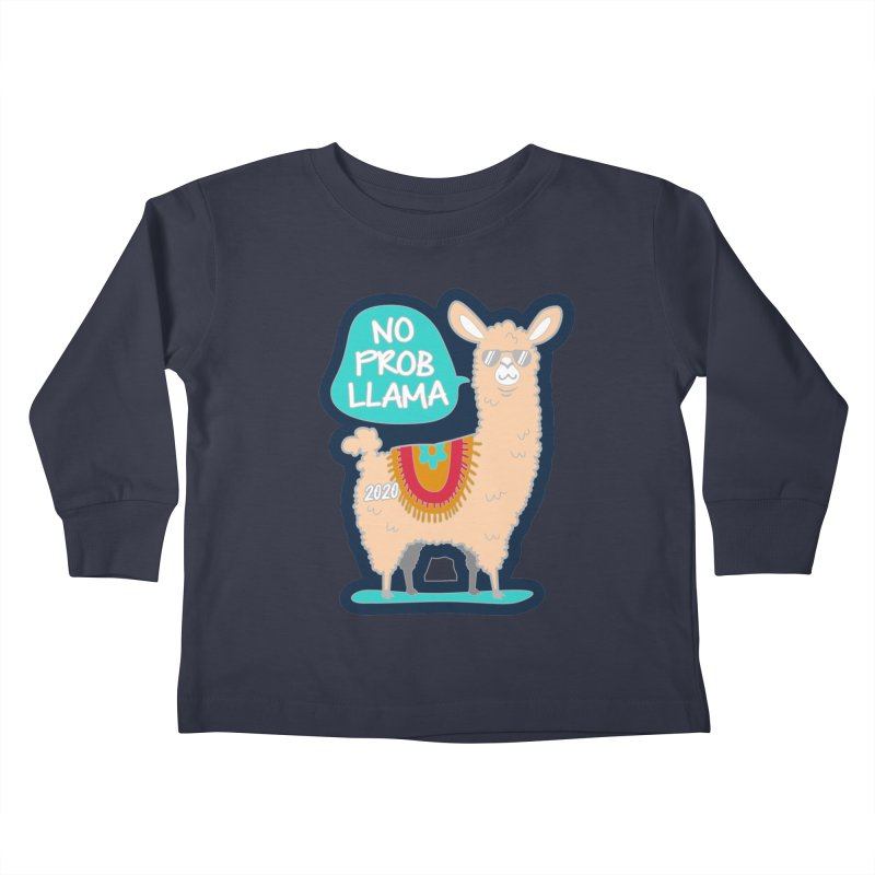 No Prob Llama Kids Toddler Longsleeve T-Shirt by Moon Joggers's Artist Shop