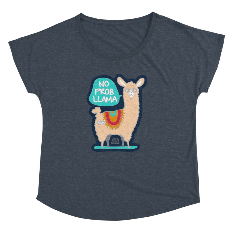No Prob Llama Women's Dolman Scoop Neck by Moon Joggers's Artist Shop