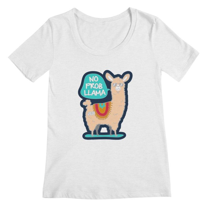 No Prob Llama Women's Regular Scoop Neck by Moon Joggers's Artist Shop