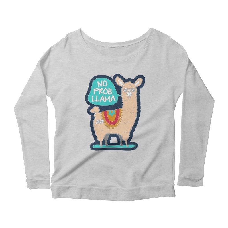 No Prob Llama Women's Scoop Neck Longsleeve T-Shirt by Moon Joggers's Artist Shop