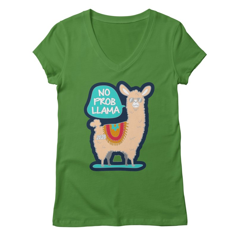 No Prob Llama Women's Regular V-Neck by Moon Joggers's Artist Shop