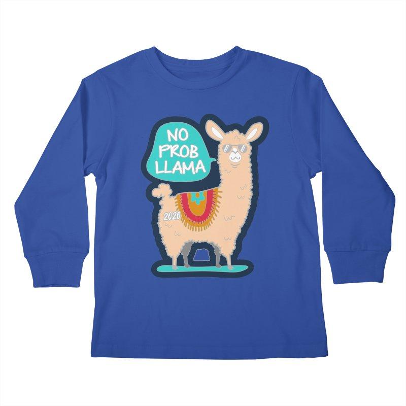 No Prob Llama Kids Longsleeve T-Shirt by Moon Joggers's Artist Shop