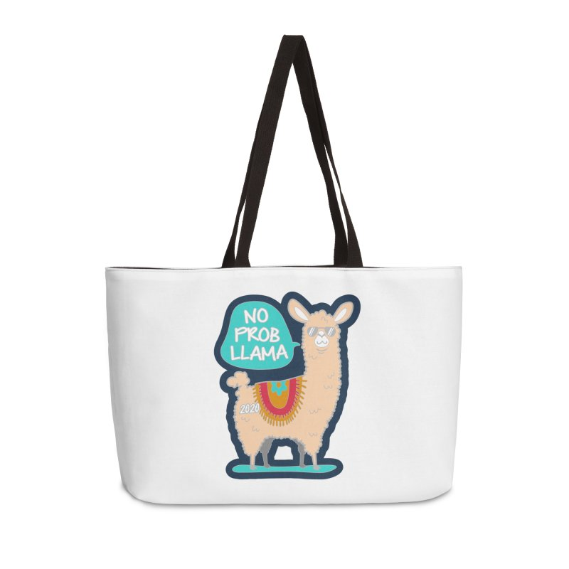 No Prob Llama Accessories Weekender Bag Bag by Moon Joggers's Artist Shop