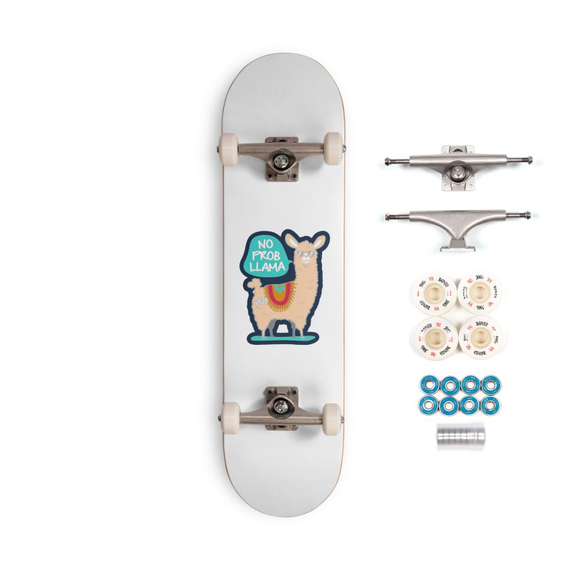 No Prob Llama Accessories Complete - Premium Skateboard by Moon Joggers's Artist Shop