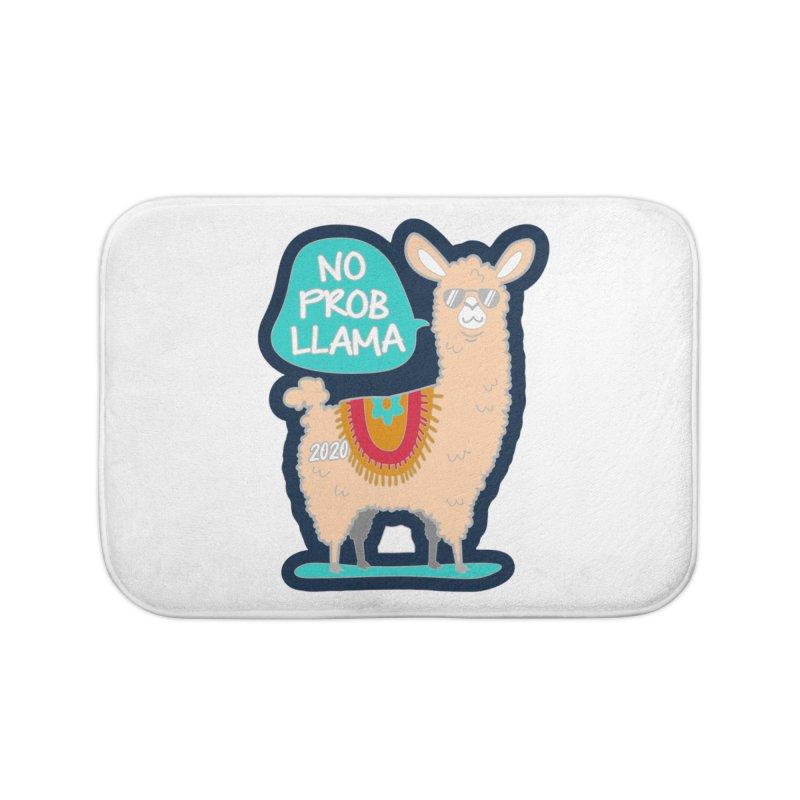 No Prob Llama Home Bath Mat by Moon Joggers's Artist Shop