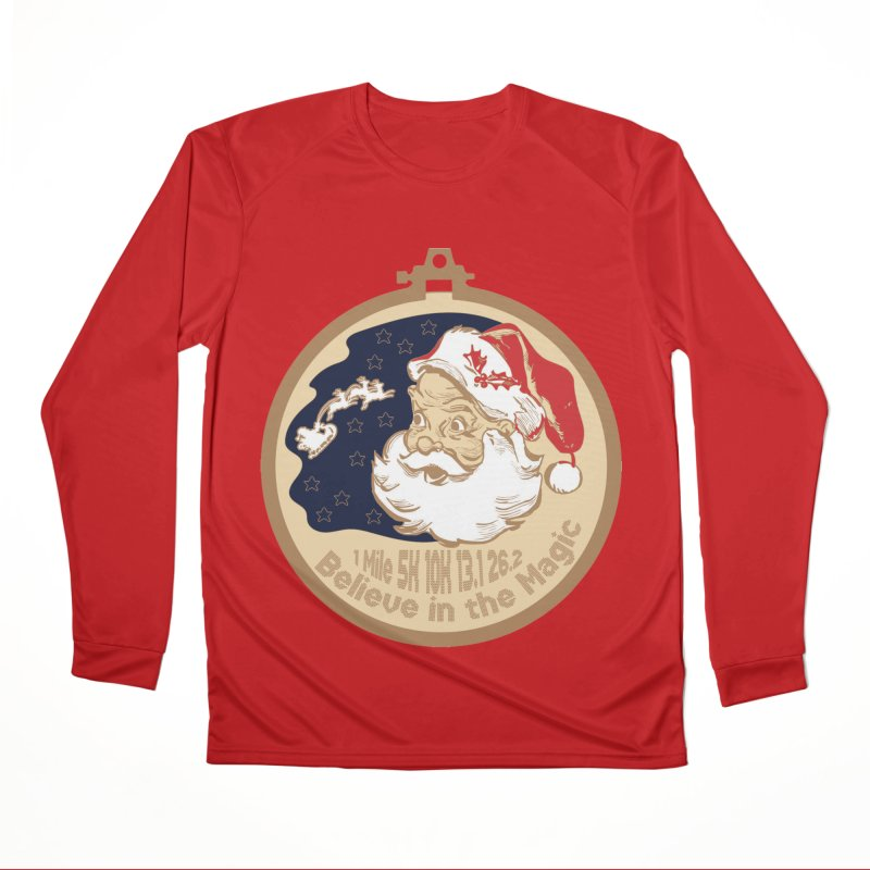 Santa's Big Day Men's Performance Longsleeve T-Shirt by Moon Joggers's Artist Shop