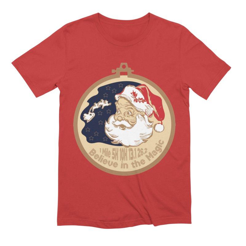 Santa's Big Day Men's Extra Soft T-Shirt by Moon Joggers's Artist Shop