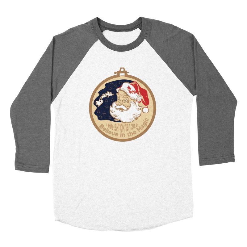 Santa's Big Day Women's Baseball Triblend Longsleeve T-Shirt by Moon Joggers's Artist Shop
