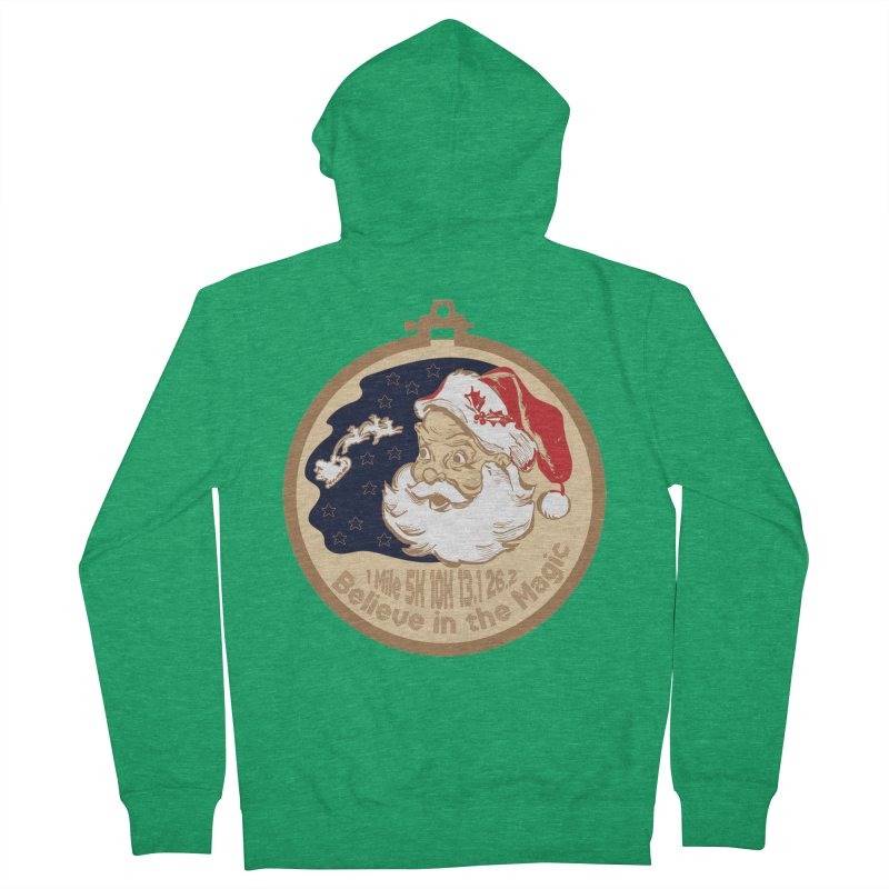 Santa's Big Day Women's French Terry Zip-Up Hoody by Moon Joggers's Artist Shop