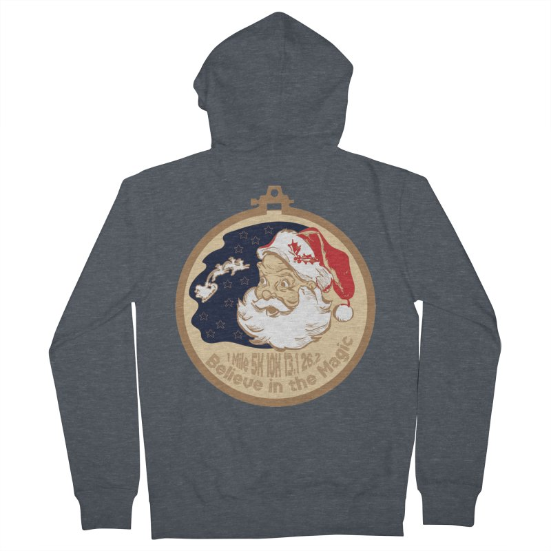 Santa's Big Day Men's French Terry Zip-Up Hoody by Moon Joggers's Artist Shop