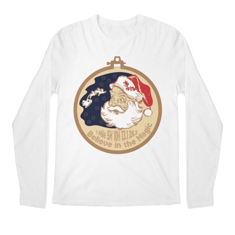 Santa's Big Day Men's Regular Longsleeve T-Shirt by Moon Joggers's Artist Shop