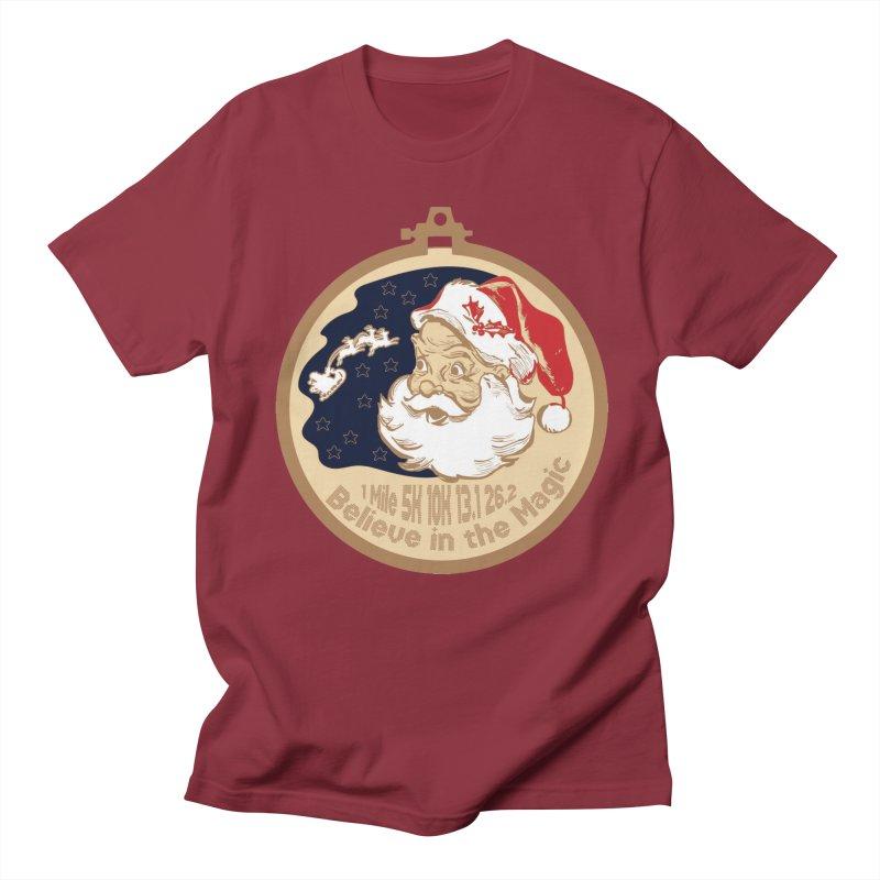 Santa's Big Day Men's Regular T-Shirt by Moon Joggers's Artist Shop