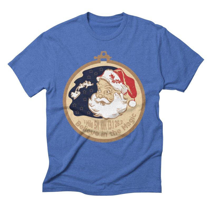 Santa's Big Day Men's Triblend T-Shirt by Moon Joggers's Artist Shop