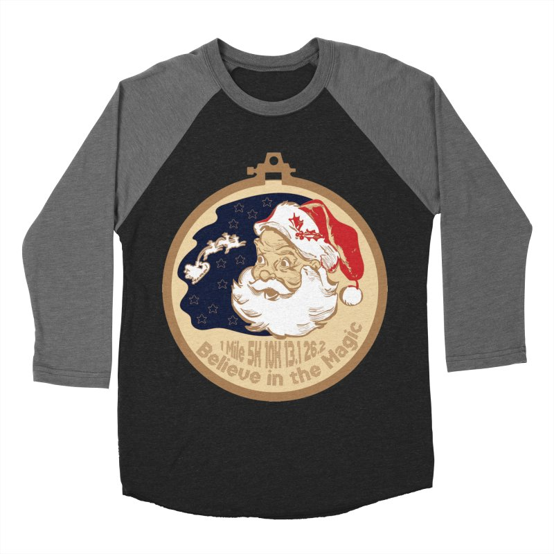Santa's Big Day Men's Baseball Triblend Longsleeve T-Shirt by Moon Joggers's Artist Shop
