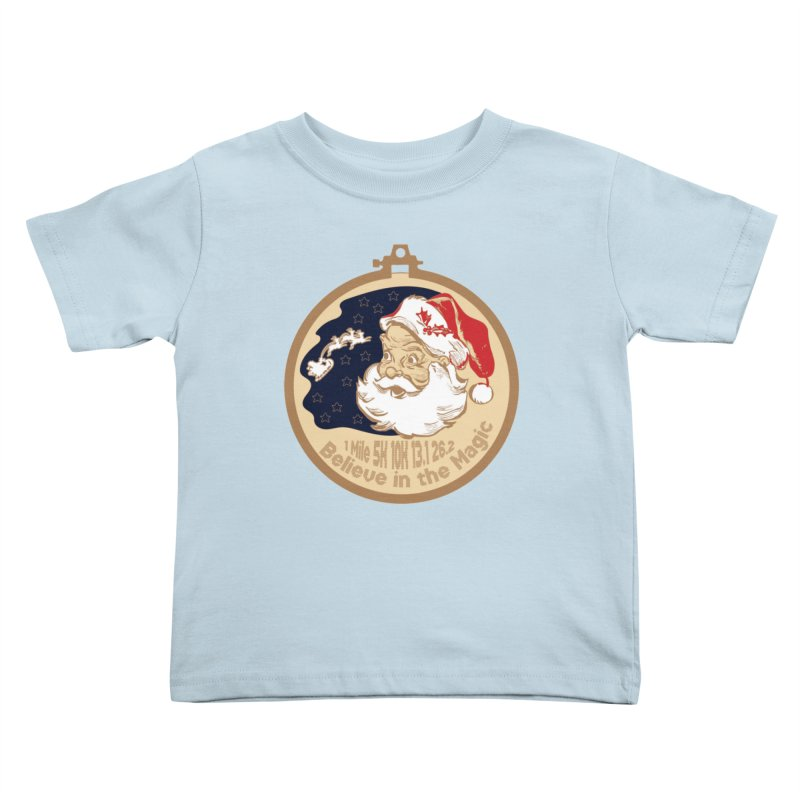 Santa's Big Day Kids Toddler T-Shirt by Moon Joggers's Artist Shop
