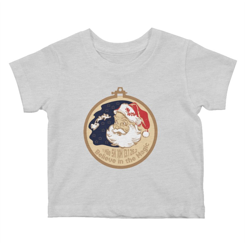 Santa's Big Day Kids Baby T-Shirt by Moon Joggers's Artist Shop
