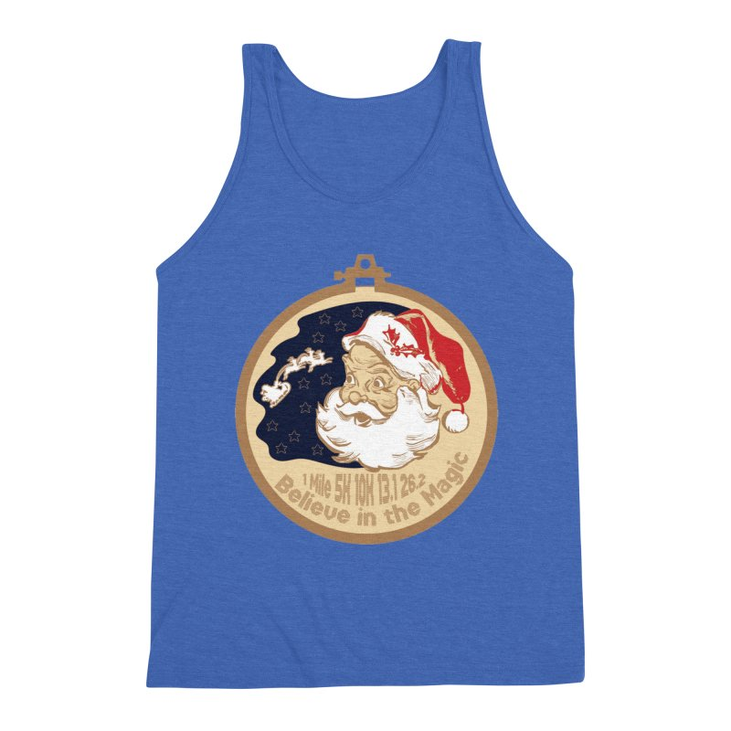 Santa's Big Day Men's Triblend Tank by Moon Joggers's Artist Shop
