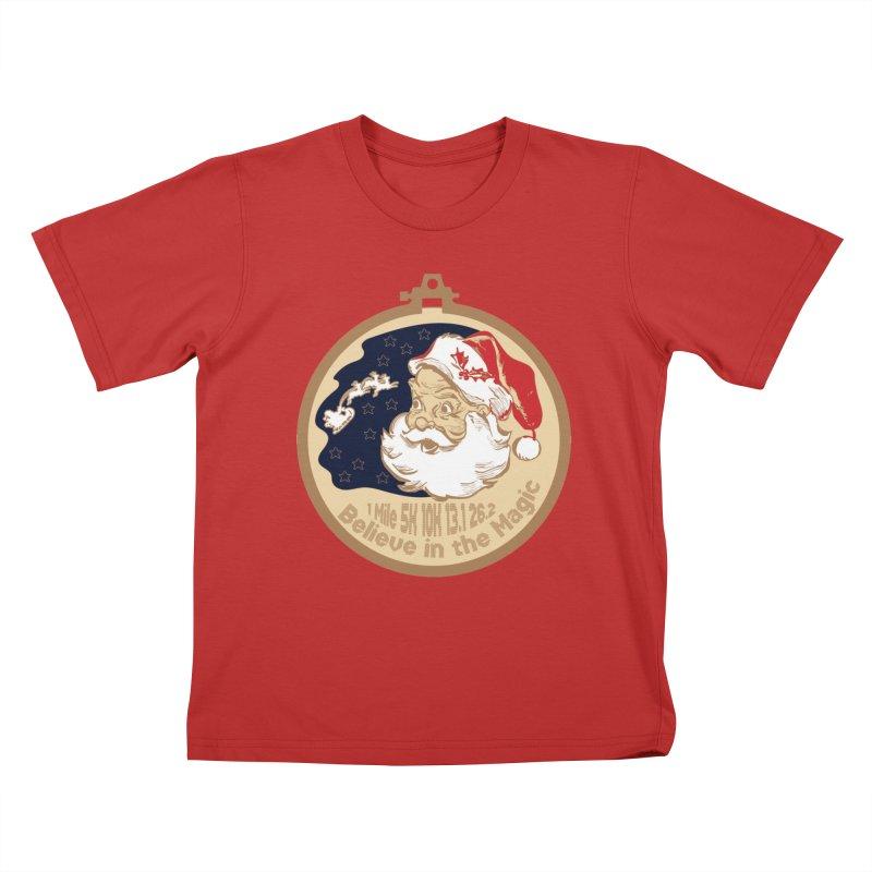 Santa's Big Day Kids T-Shirt by Moon Joggers's Artist Shop