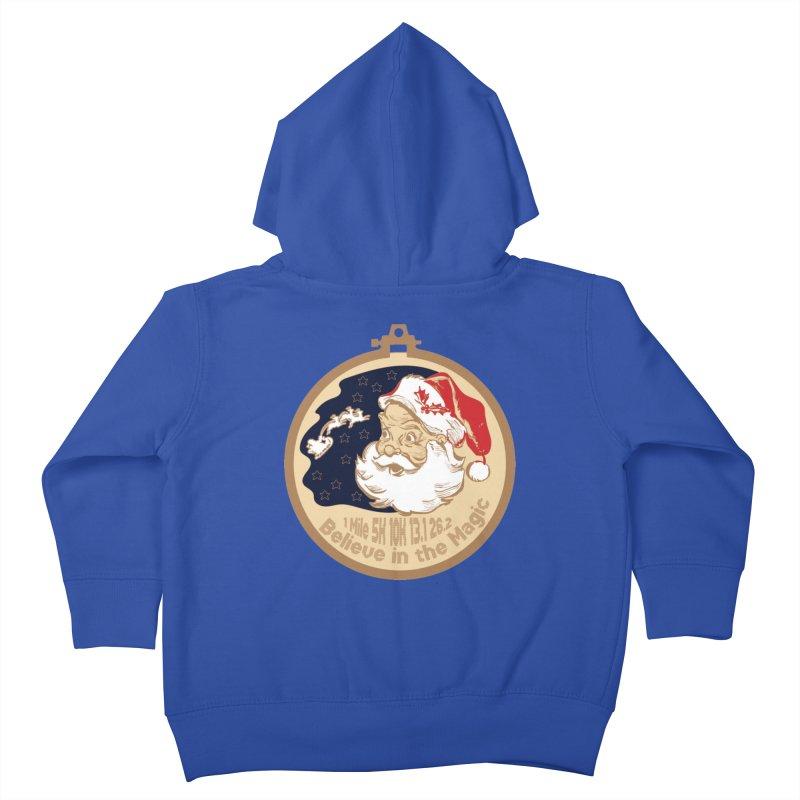 Santa's Big Day Kids Toddler Zip-Up Hoody by Moon Joggers's Artist Shop
